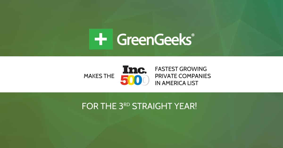 GreenGeeks 2015 INC 5000