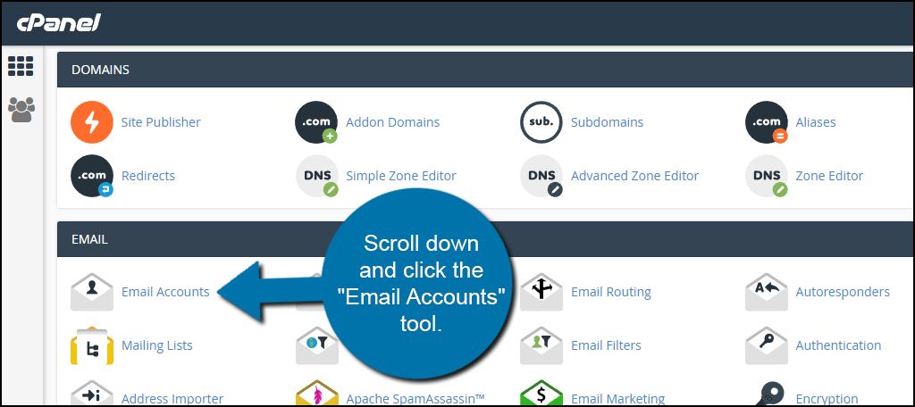 Email Accounts Tool