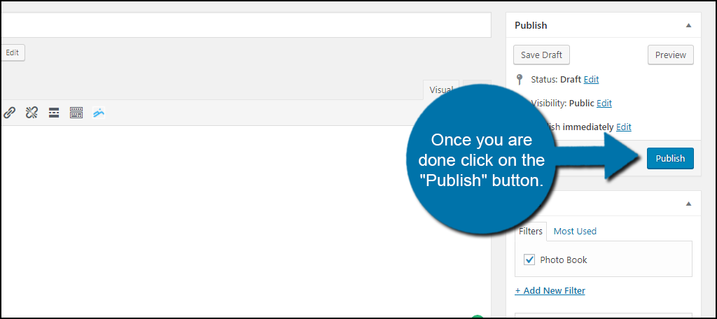 """Once you are done click on the """"Publish"""" button."""