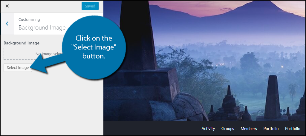 """click on the """"Select Image"""" button."""