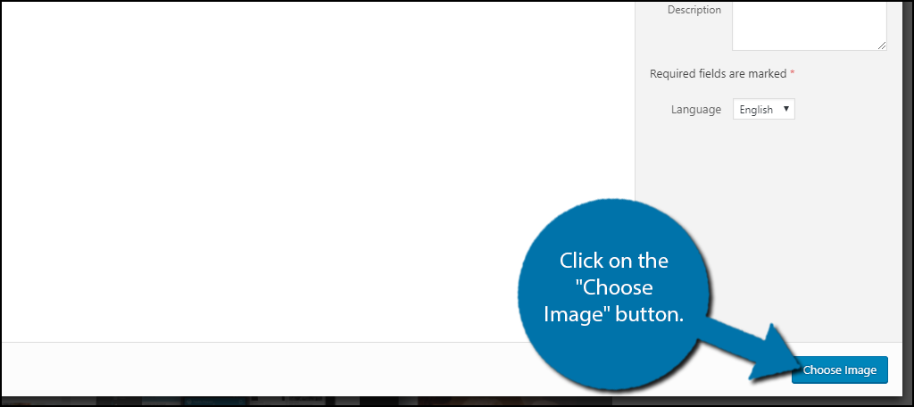 """Click on the """"Choose Image"""" button"""