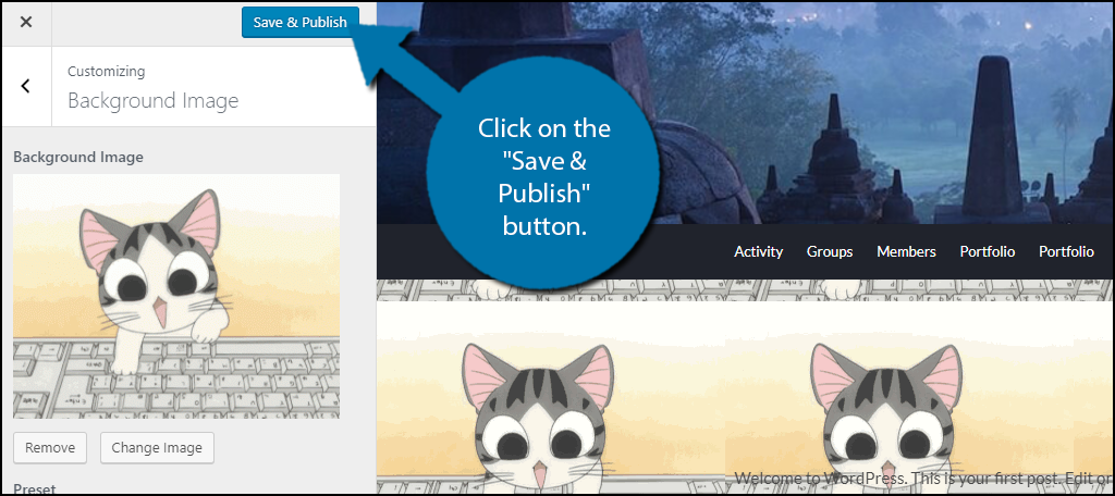 """click on the """"Save & Publish"""" button."""