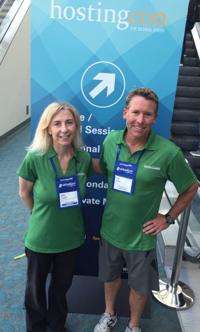 Myself (Anna) & Trey Gardner at HostingCon 2015 San Diego