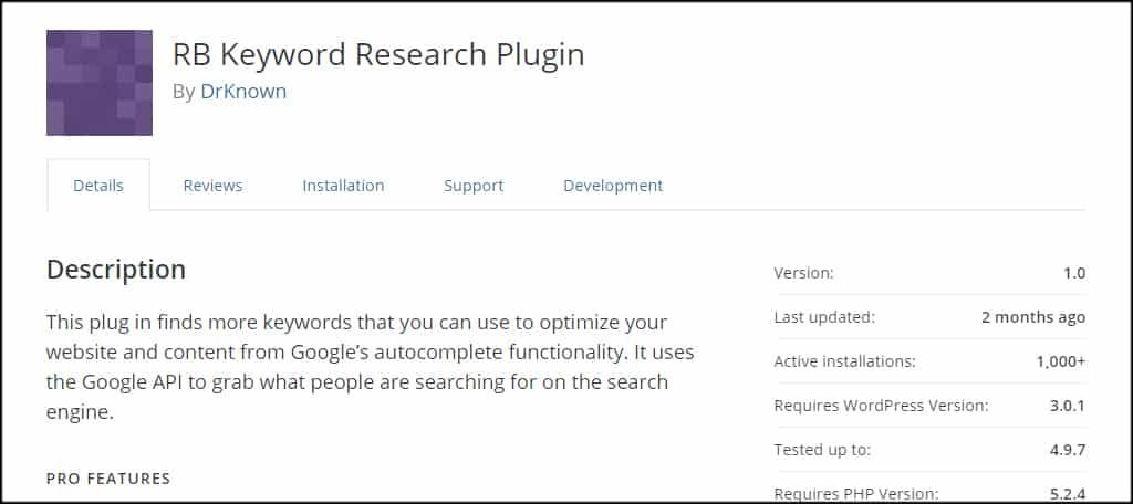 RB Keyword Research