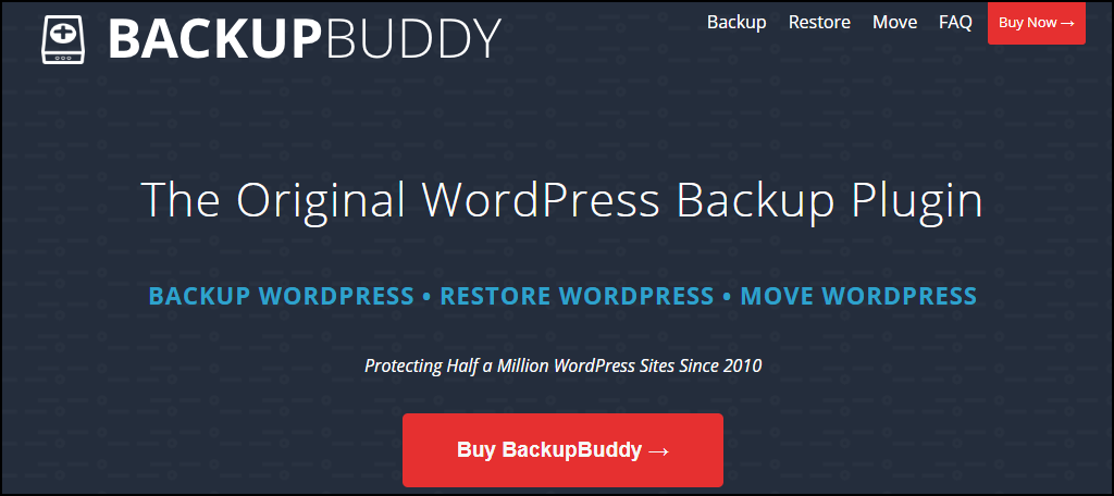 BackupBuddy WordPress plugin