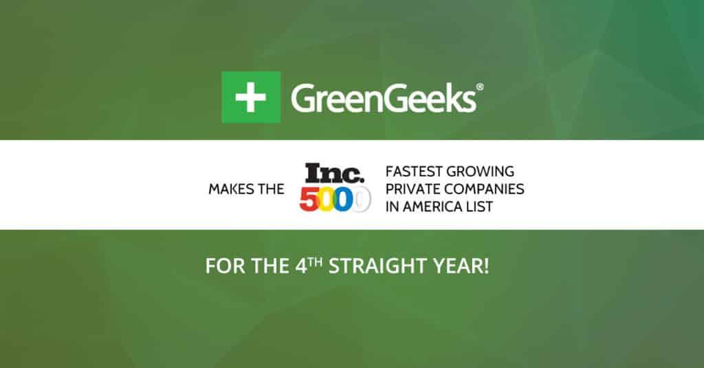 GreenGeeks makes Inc 5000