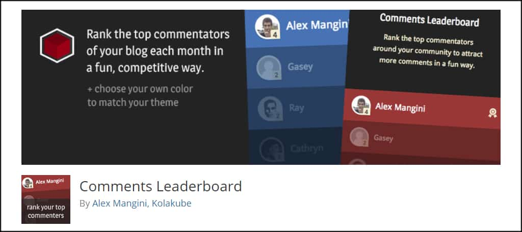 Comments Leaderboard
