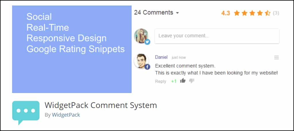 WidgetPack Comment System