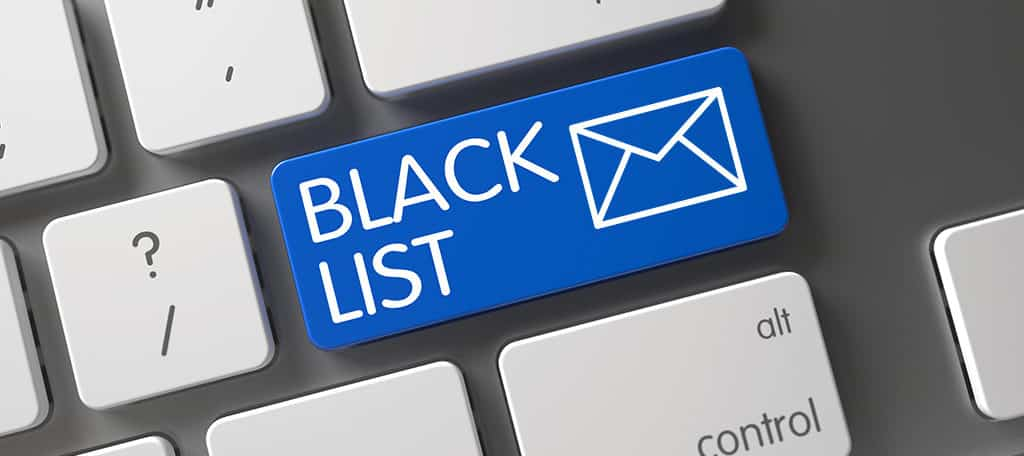 blacklisted email addresses