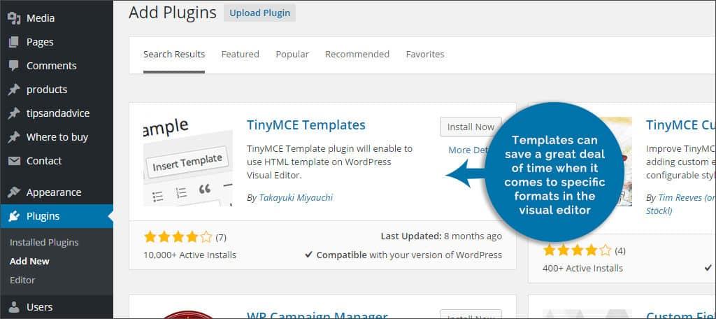 tiny templates