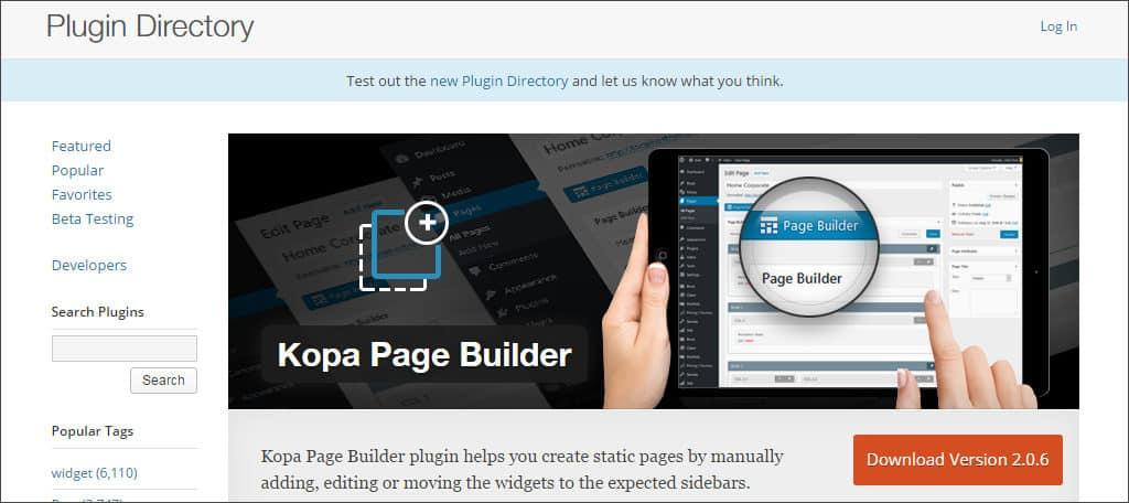 kopa page builder