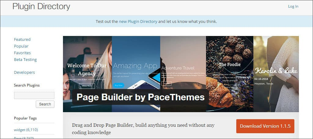 page builder by pace themes