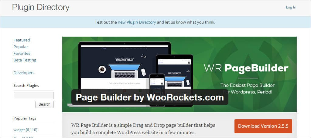 wr page builder