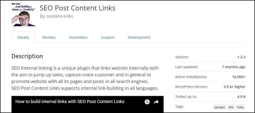SEO Post Content Links