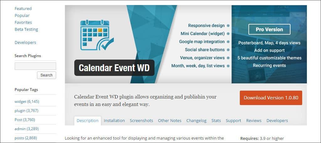 calendar event WD