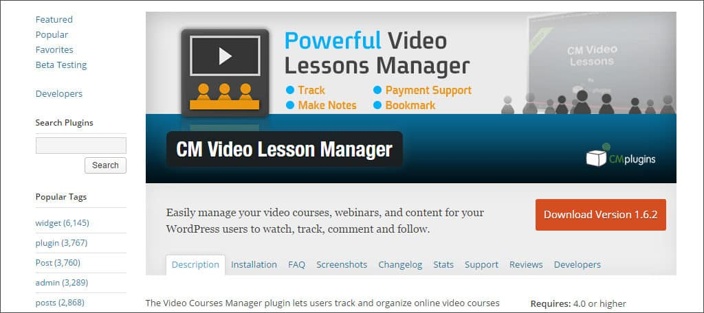 cm video lesson manager