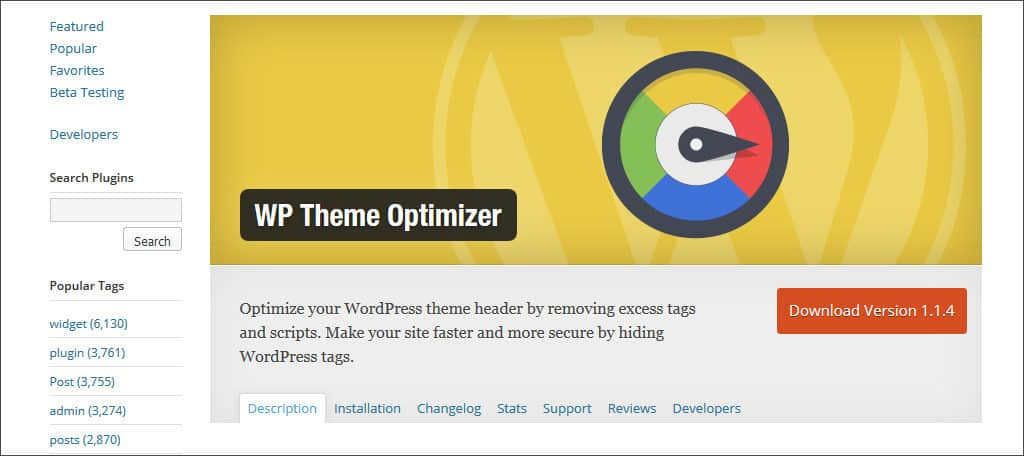 wp theme optimizer