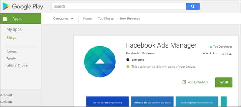 Facebook Ads Manager App