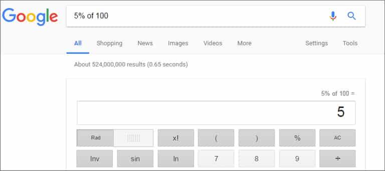 Google Calculator Tool