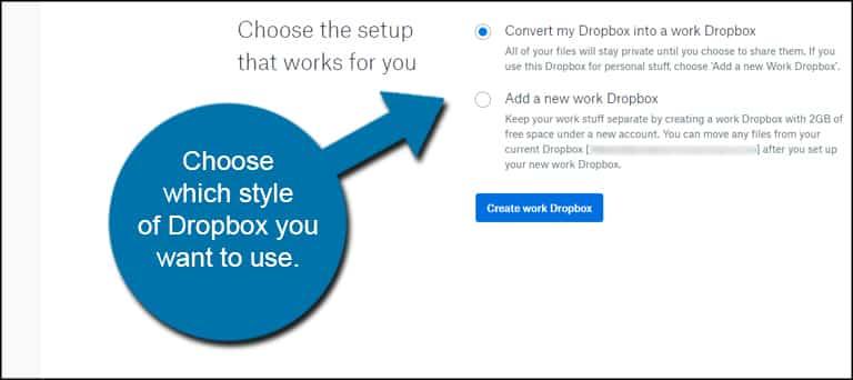 Choose Dropbox Style