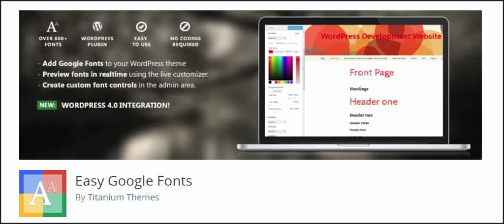 Easy Google Fonts