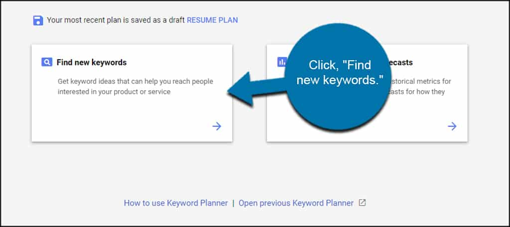Find New Keywords