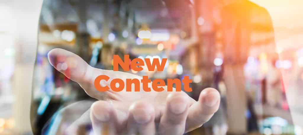 Share new Content