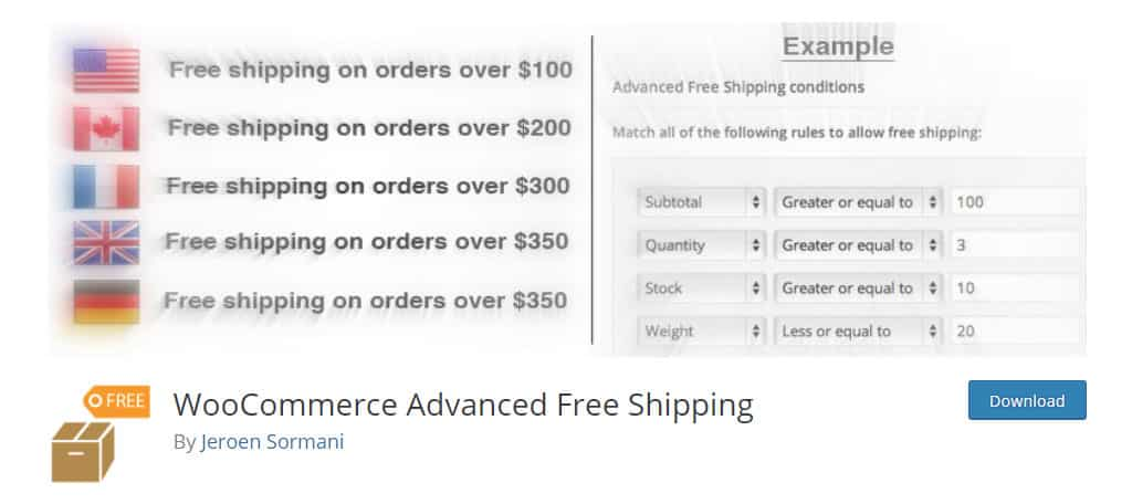 Advanced Free Shipping