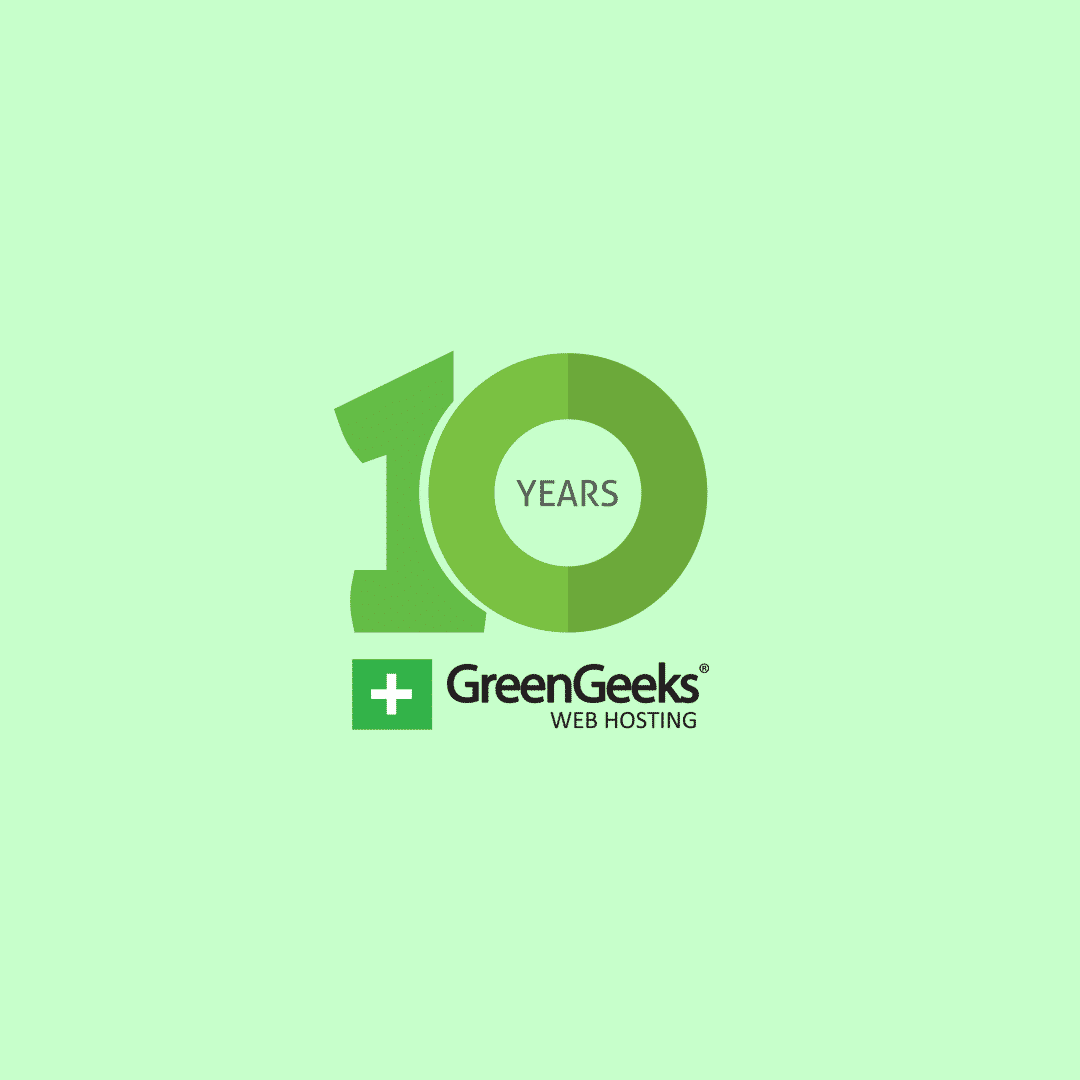 GreenGeeks - 10 Years of Web Hosting