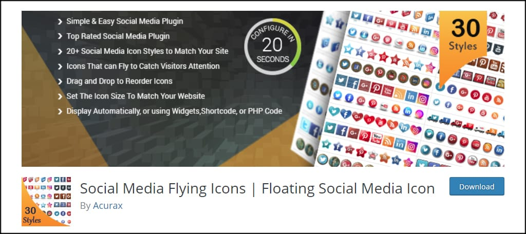 Social Media Flying Icons