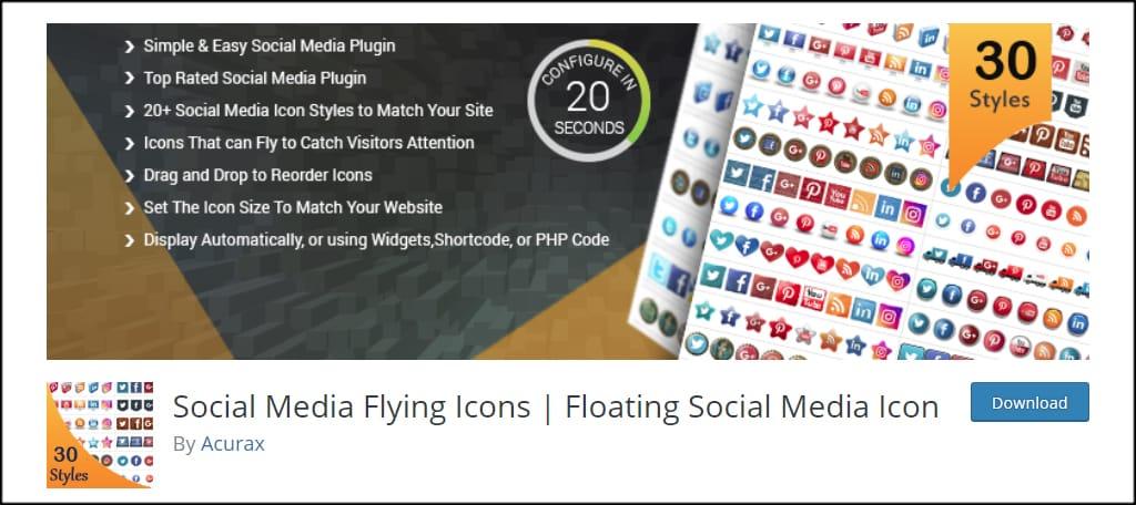 Social Media Flying Icons