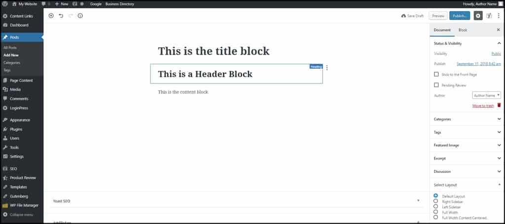 Gutenberg Block Examples