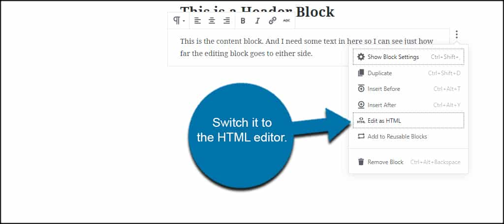Switch To HTML