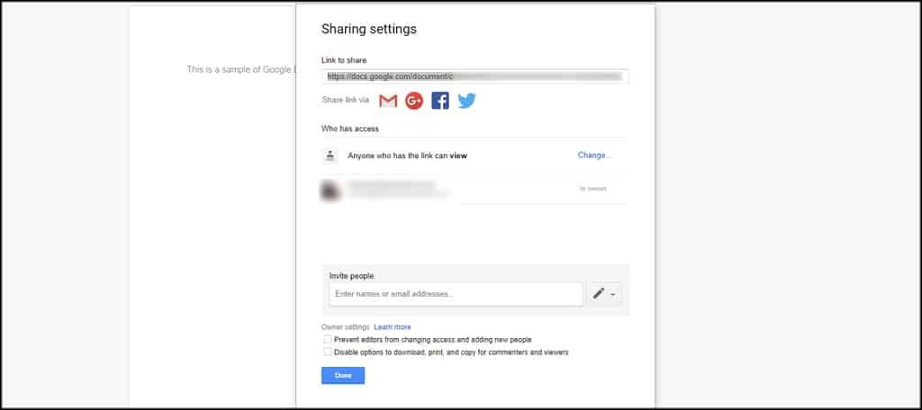 Advanced Sharing Settings