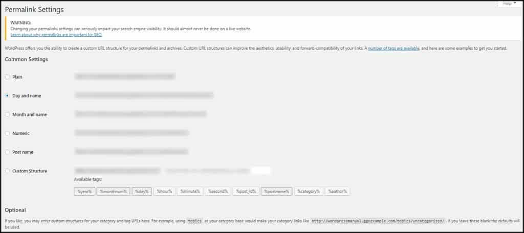 WordPress Permalink Tags