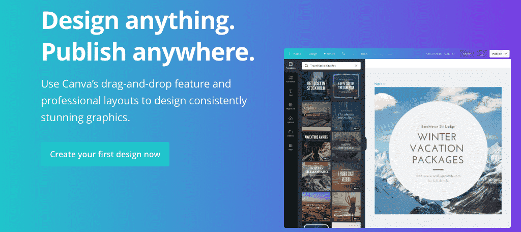 Canva free design tool