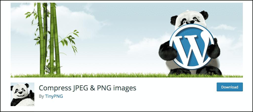 Compress jpeg and png images plugin