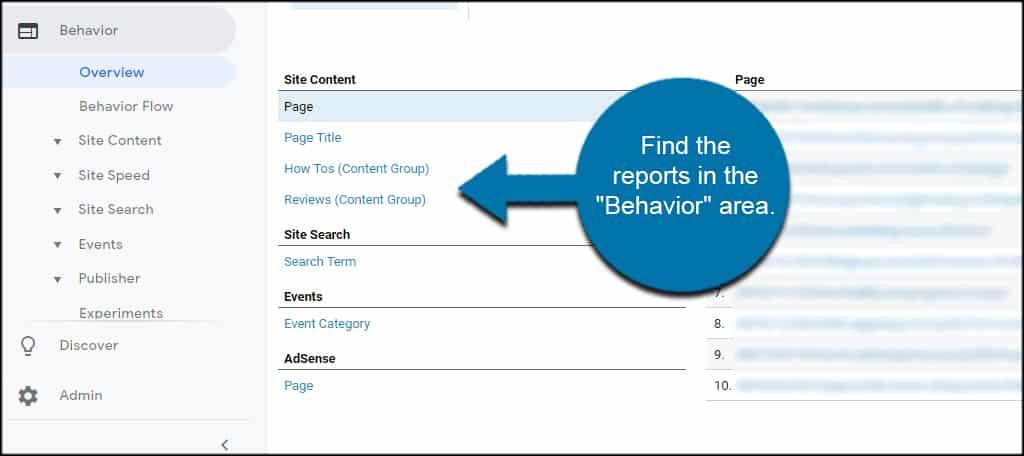 Find Analytics Groups