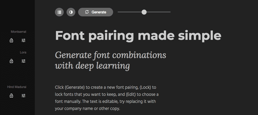 Fontjoy free web design tools