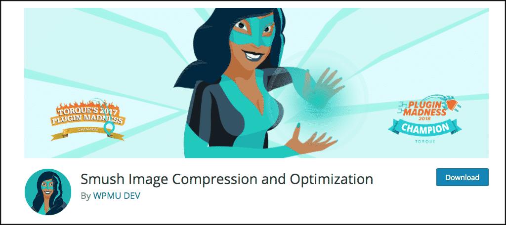 Smush image compression and optimization plugin