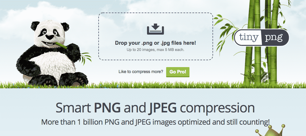Tinypng free image compression and sizing tool