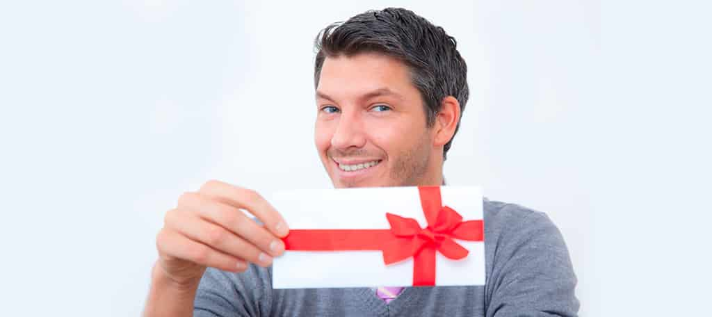 Hand out Gift Cards
