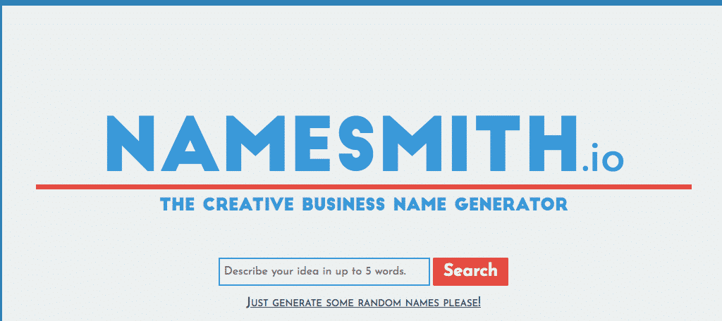 NameSmith domain name generator tool