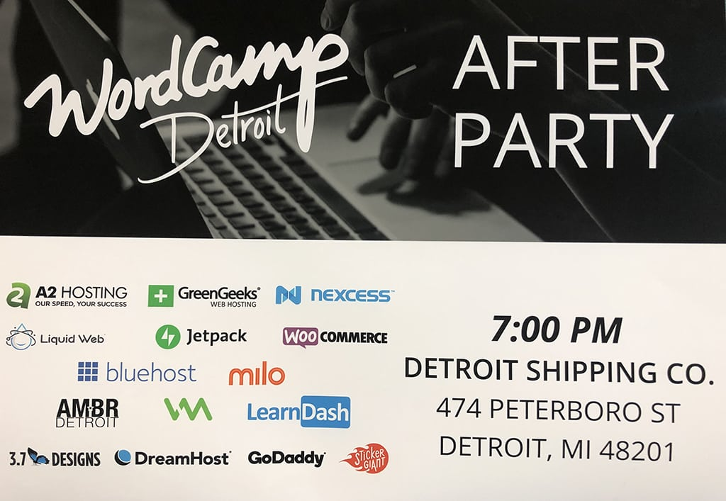 WordCamp Detroit 2019 After Party