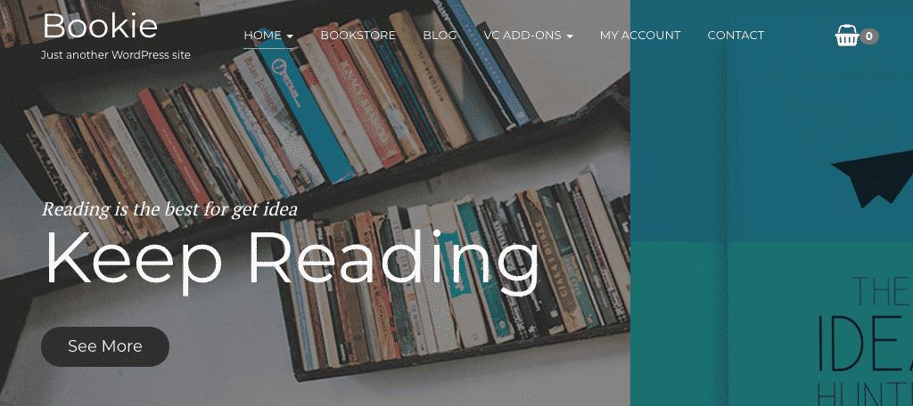 Bookie wordpress theme for authors
