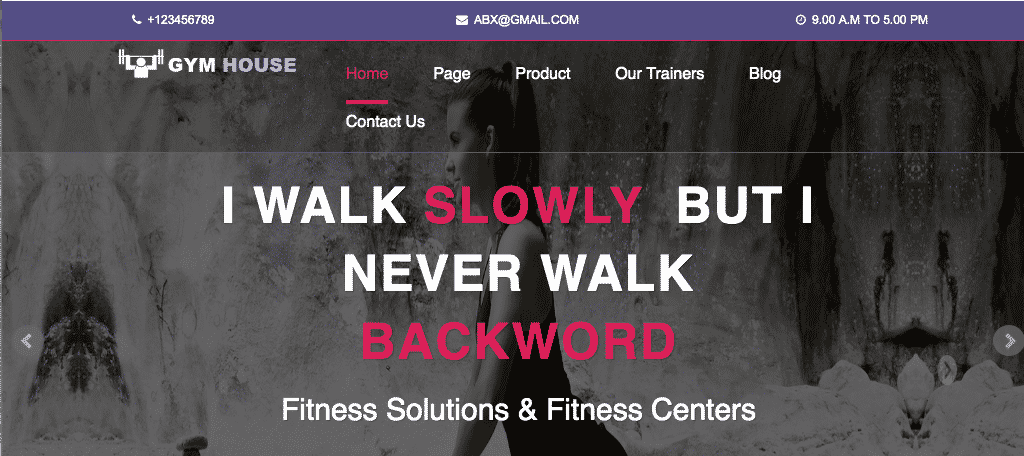 Fitness gymhouse wordpress theme