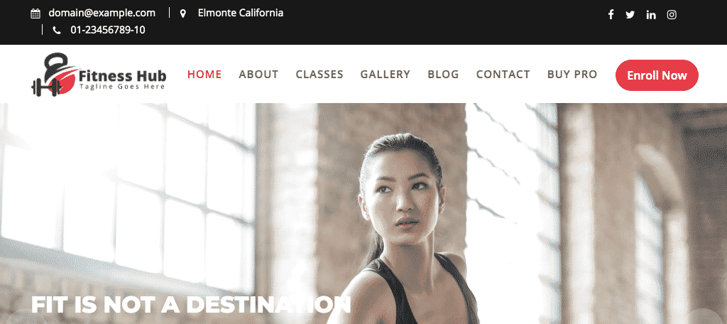 Fitness hub free wordpress fitness theme
