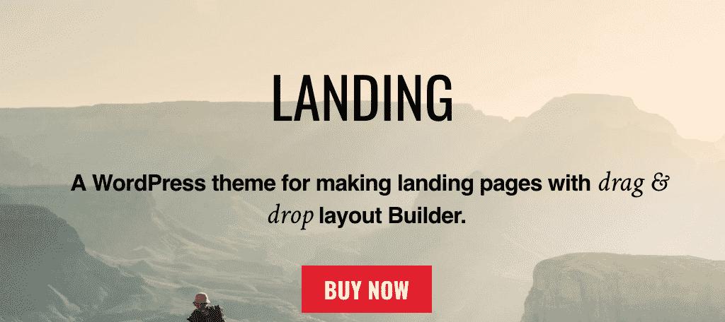 Landing wordpress theme for authors