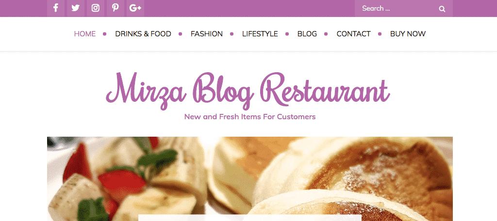 Mizra blog theme