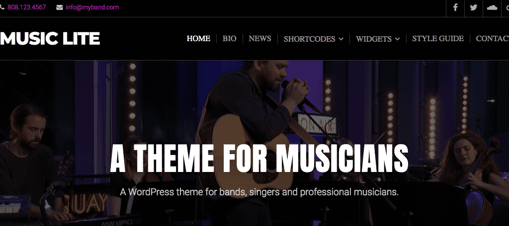 Music lite wordpress gutenberg theme